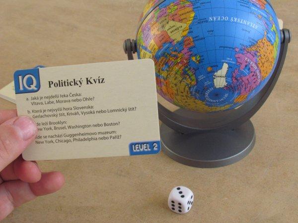 Politický kvíz s globusem - rozehraná hra