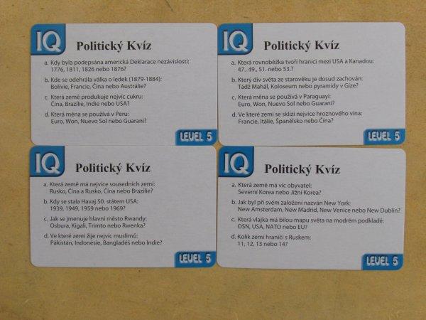 Politický kvíz s globusem - karty
