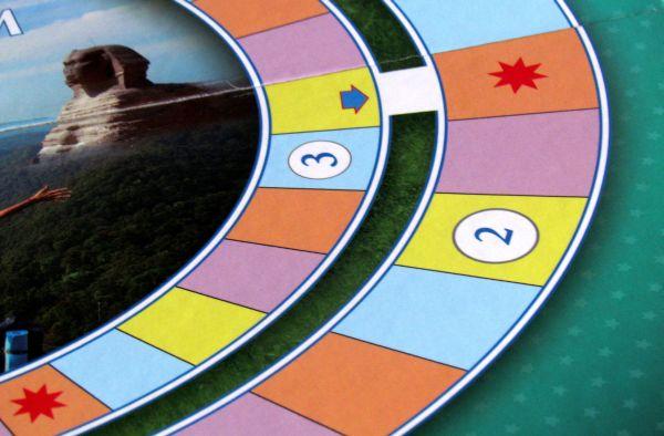 Letem světem - herní deska