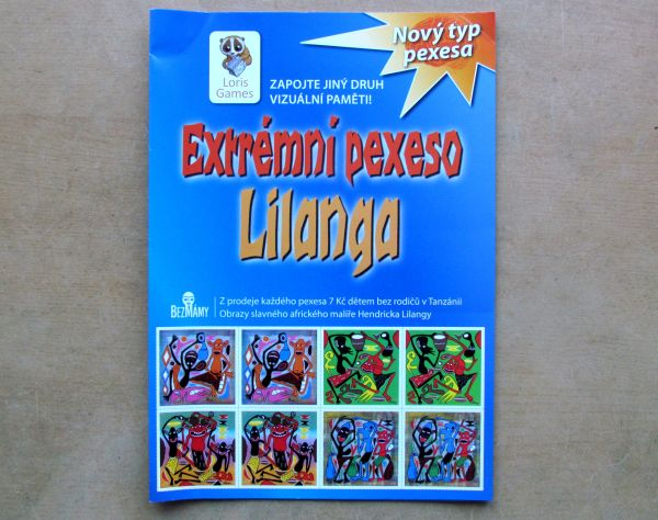 Extrémní pexeso Lilanga - balení