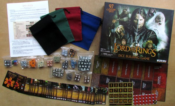 Lord of the Rings Dice Building Game - balení
