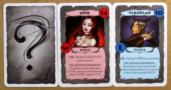 Lovci noci - karty