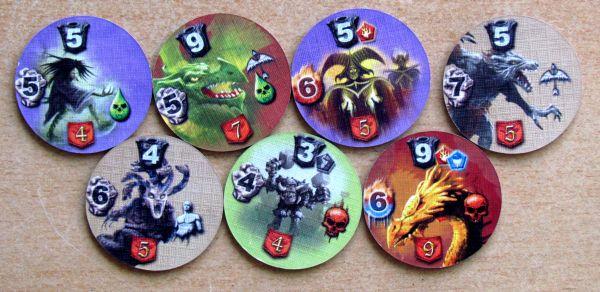 Mage Knight: Desková hra - žetony