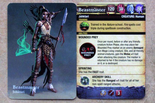 Mage Wars: Conquest of Kumanjaro - karty