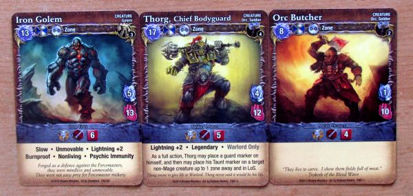 Mage Wars: Forcemaster vs Warlord - karty