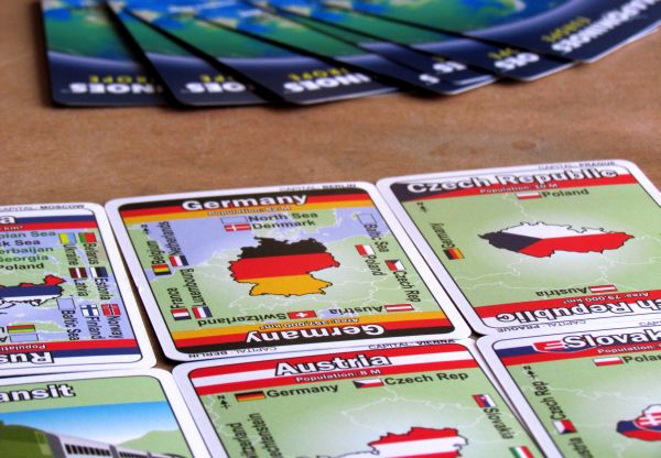 Mapominoes: Europe - rozehraná hra