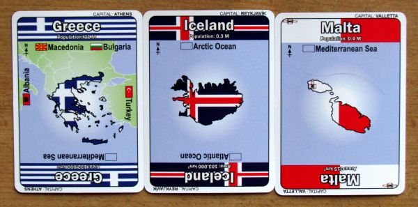 Mapominoes: Europe - karty