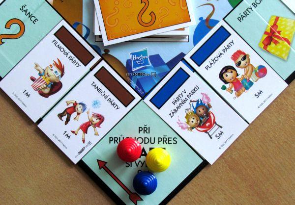 Monopoly Junior Party - připravená hra