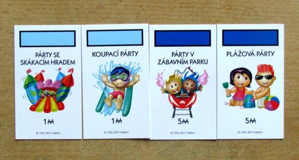 Monopoly Junior Party - karty