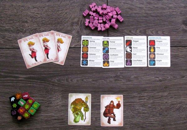 Monsters & Maidens - připravená hra
