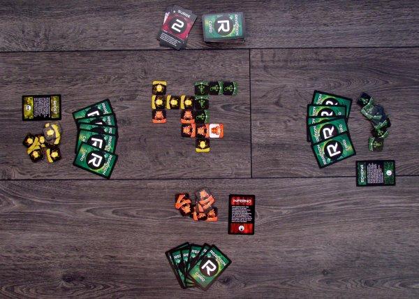 Nanobot Battle Arena - game in progress