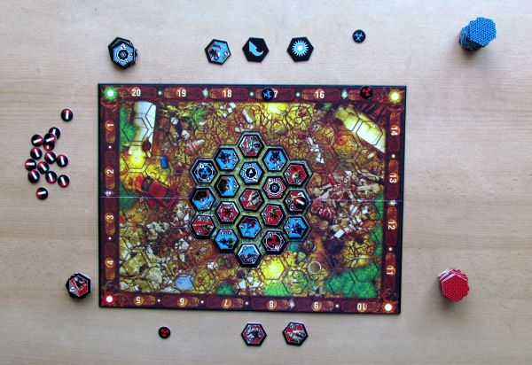 Neuroshima Hex - game in progress