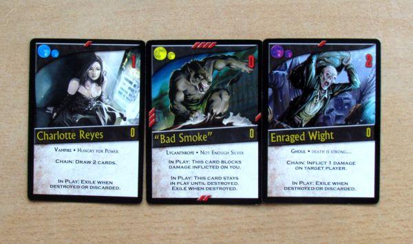 Nightfall - startovní karty
