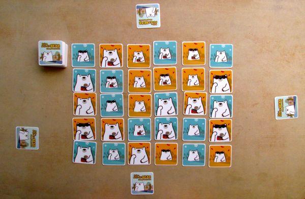 Pick-a-Polar Bear - připravená hra