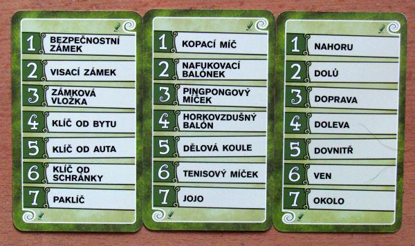 Pictomania - karty