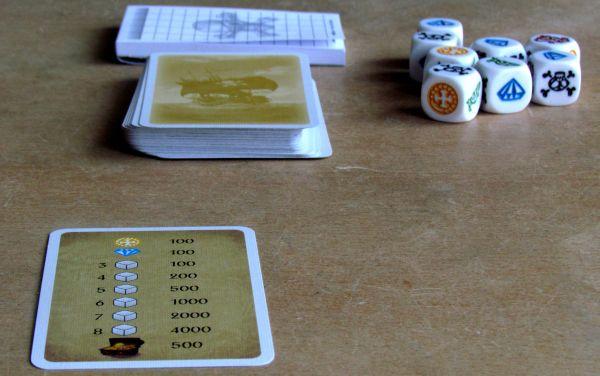 Pirátské kostky - připravená hra
