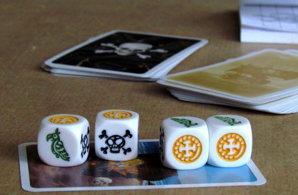 Pirátské kostky - rozehraná hra