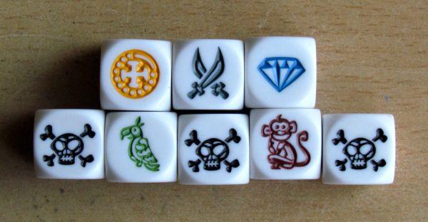 Pirátské kostky - kostky