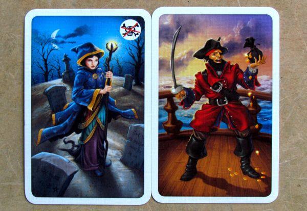 Pirátské kostky - karty