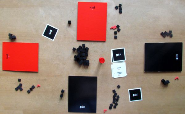 Board game review: Pix - game in progress