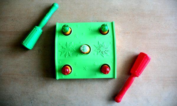 Plácni krtka - připravená hra
