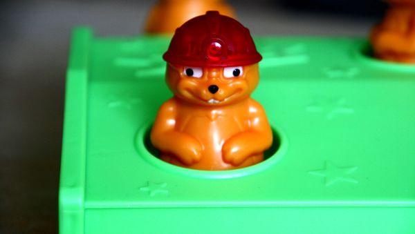Plácni krtka - rozehraná hra