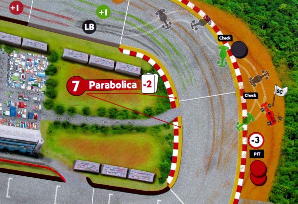 Race! Formula 90 - detail herního plánu