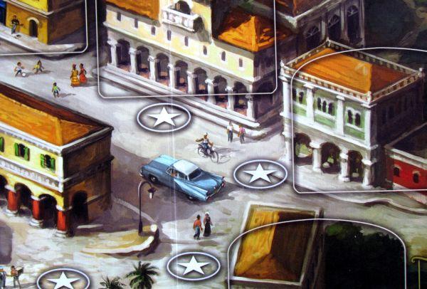 Santiago de Cuba - detail herního plánu