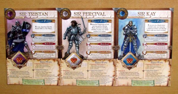 Shadows over Camelot - hero cards