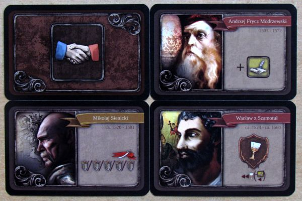 Board game review: Sigismundus Augustus - cards