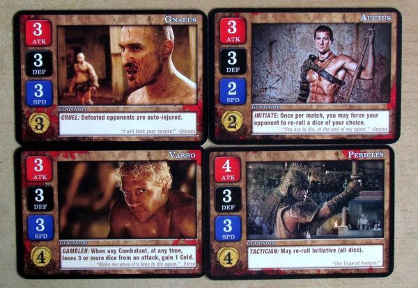 Spartacus: A Game of Blood and Treachery - cards