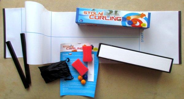 Stolní curling - balení