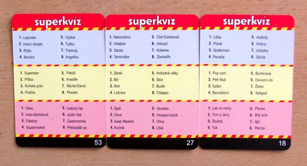 Superkvíz - karty
