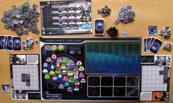 Target Earth - připravená hra