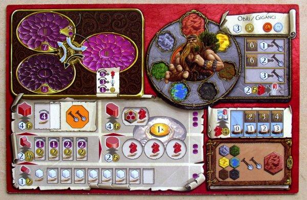 Terra Mystica - hráčský plán