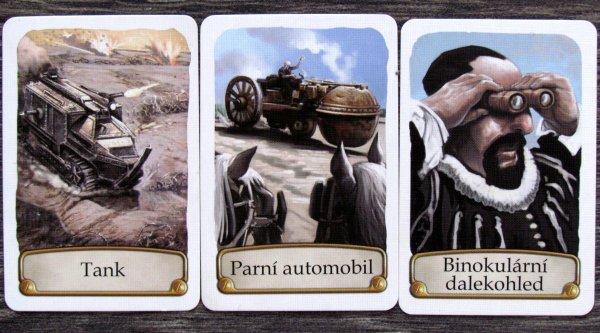 Timeline: Pestrá historie - karty