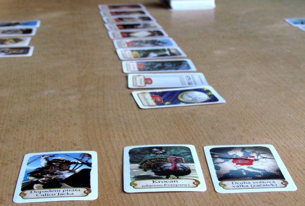 Timeline: Historické události - rozehraná hra