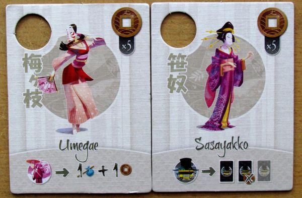 Tokaido - kartičky hrdinů