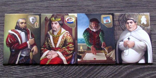 Vasco da Gama - destičky postav