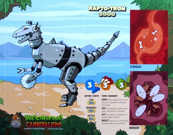 Velociraptor! Cannibalism! - player boards
