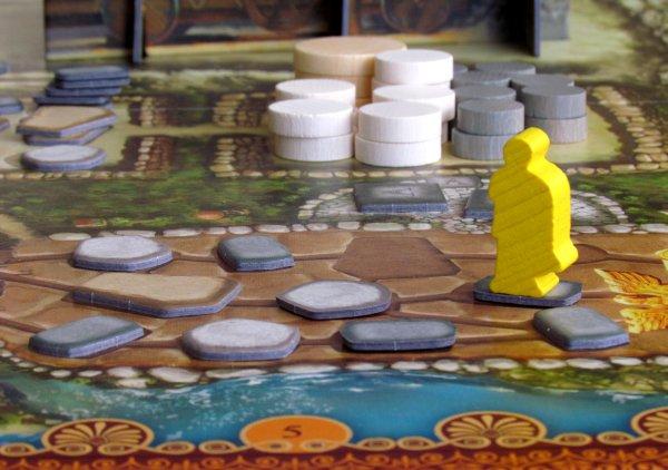 Board game review: Via Appia - game in progress