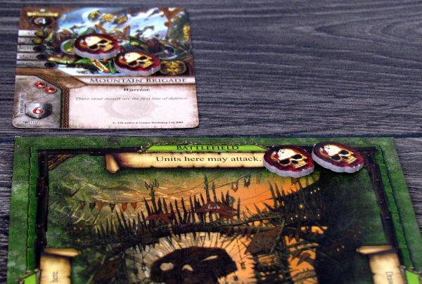 Warhammer: Invasion LCG - game in progress