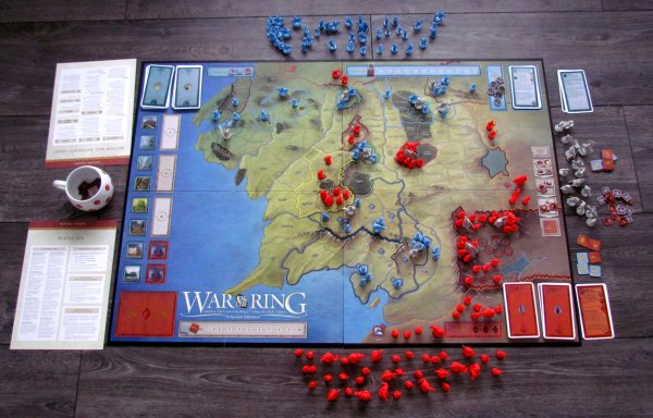 War of the Ring: Second Edition - připravená hra