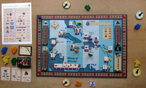 Winds of Plunder - připravená hra