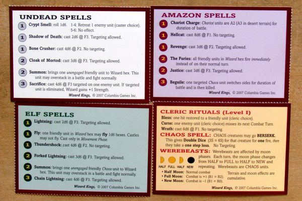 Wizard Kings - spell cards