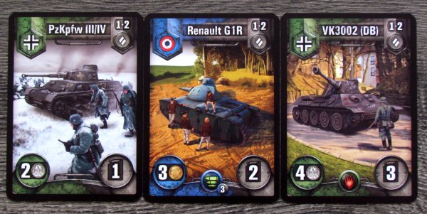 World of Tanks: Rush - cards
