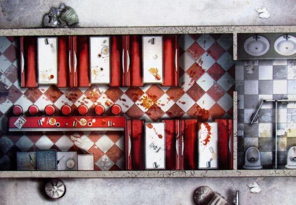 Zombicide - detail herního plánu