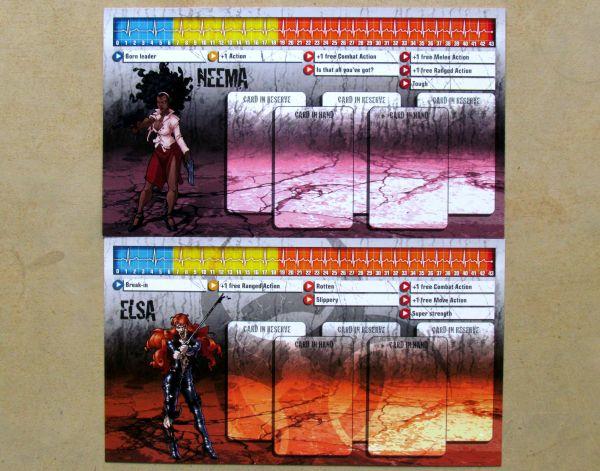 Zombicide: Toxic City Mall - karty hrdinů