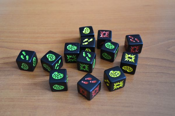 Zombie Dice - game in progress