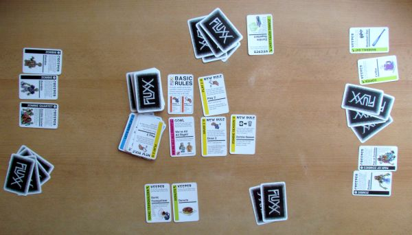Zombie Fluxx - game in progress